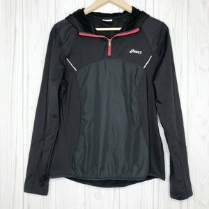 Asics Charcoal Gray 1/4 Zip Running Jacket